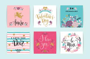 Set di carte Happy Valentines Day.