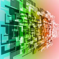 Fondo del túnel colorido vector