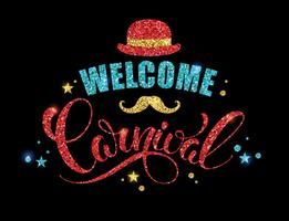 Carnival glittering lettering design.