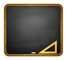 Vector Black Chalkboard Illustration