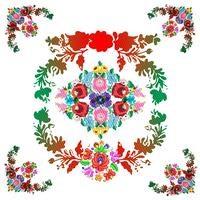 "Hungarian ""matyo"" folk vector pattern"