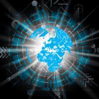 Illustration vectorielle de globe terrestre pour la publicité