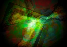 Abstract green shiny vector