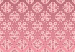 Rose Gold Rococo Pattern Background
