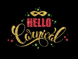 Carnaval brillante diseño de letras.