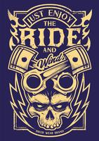 Just Enjoy The Ride Vector Biker Art