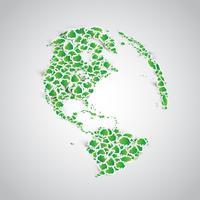 Terra feita de um monte de árvores de etiqueta