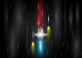 Nave espacial para juegos, ilustración vectorial