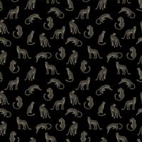 Seamless pattern with leopards.