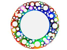Colorful circles, vector