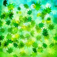 Groene bladeren en bokeh vectorachtergrond