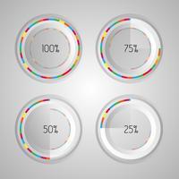Vit och färgstark infografisk