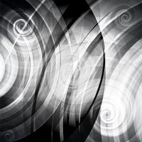 Gray vector circles and twirls