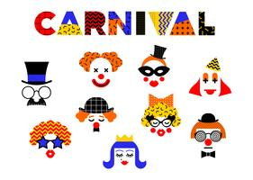 Karneval illustration i Memphis stil.