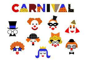 Ilustración del carnaval en el estilo de Memphis.