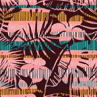 Modelo inconsútil abstracto con las hojas tropicales. Mano dibujar textura.