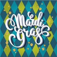 Mardi Gras. Lettering design for Banners, Flyers, Placards, Post