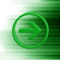 Green vector arrow for web, vector