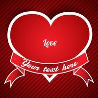 Illustration vectorielle de Saint Valentin coeur