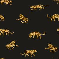 Transparente motif exotique avec des silhouettes abstraites des léopards.