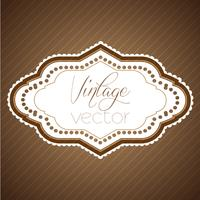 Vintage label eps10 vector ontwerp