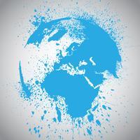 Ilustración de vector de globo de tierra
