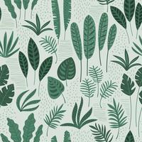 Abstrata sem costura padrão com folhas tropicais.