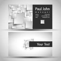 Conception de carte de visite colorée et élégante avec recto et verso, vector
