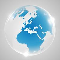 Illustration vectorielle de globe terrestre
