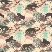 Naadloos patroon met abstracte luipaarden.