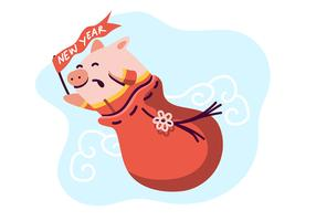 Porco chinês do ano novo