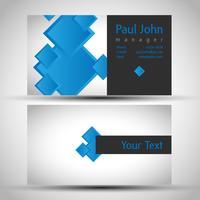 Färgrikt och elegant visitkortdesign med fram och baksida, vektor