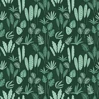 Abstract seamless pattern with tropical leaves. vector