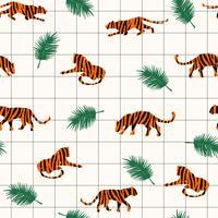 Nahtloses exotisches Muster mit abstrakten Schattenbildern der Tiger.