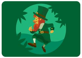 st.patrick walking character design vector