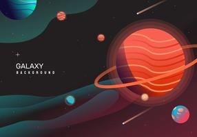 espacio caliente galaxia backgrond vector illustration