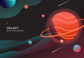 Heiße Raum-Galaxie Backgrond-Vektorillustration