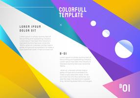Sharp Geometric Shape Colorfull Background Vector