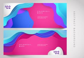 Abstract Wave Colorfull Background Banner Vector