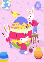 Papier peint Lapin de Pâques
