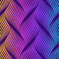 Twisty Waves Colorful Background