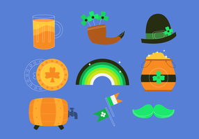 Colorfull St Patricks Day Clipart Set vector Illustration