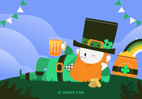 Viert St Patricks Day Character vector illustratie