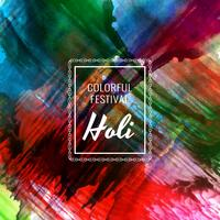 Abstract Happy Holi colorful festival celebration background illustration