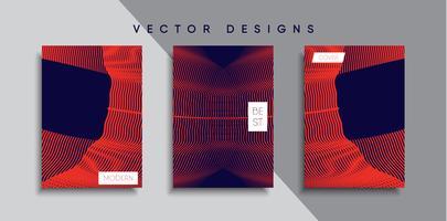 Disegni di copertura del vettore minimal. Modello di poster futuro