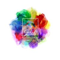 Abstract Happy Holi colorful festival decorative background illustration