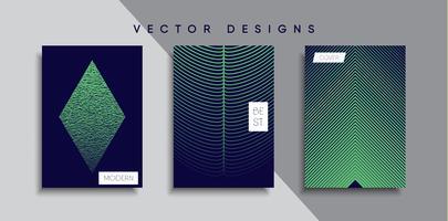 Dessins de couverture minimale de vecteur. Modèle de future affiche