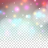 Abstract colorful sparkling glitter design on transparent background