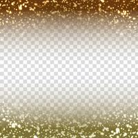 Abstract glittering design on transparent background