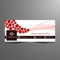 Modèle de bannière abstraite Happy Valentin jour facebook